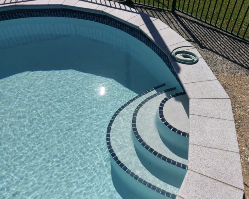 Concrete Pool Coping Repairs - New Pavers Concrete Swimming Pools