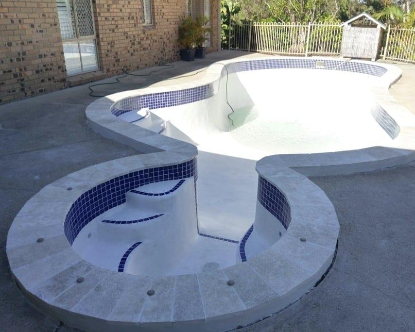 Domestic Pool After Concrete Pool Renovations - Backyard Concrete Pool Repairs