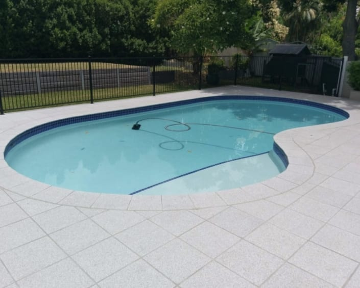 Home Swimming Pool After Concrete Pool Renovations - Residential Concrete Pool Repair Company
