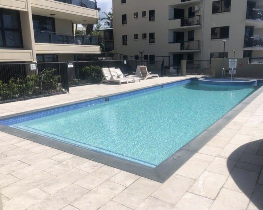 Lap Pool After Concrete Pool Renovations - Resort Pool Repairs