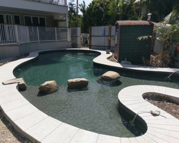 Pool Reno After Concrete Pool Renovations - Full Coping Restoration