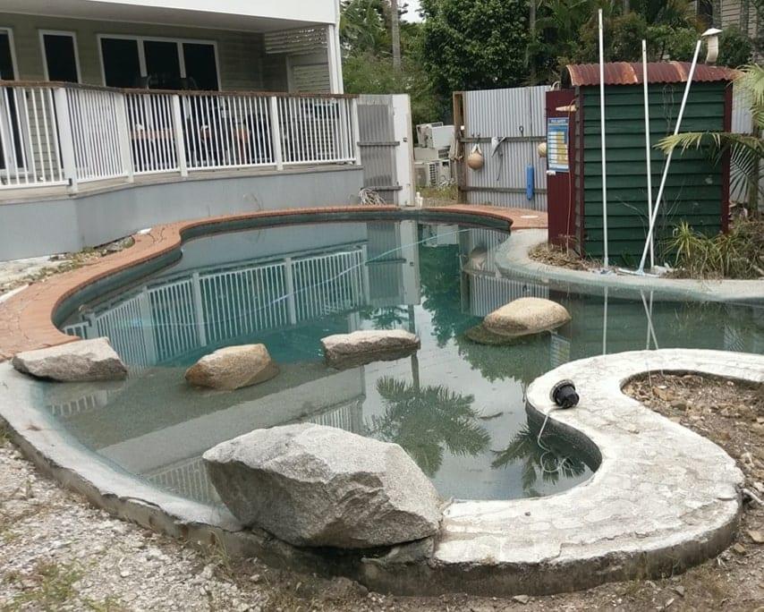 Pool Reno Before Concrete Pool Renovations - Damaged Pool Coping